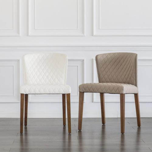 Albie KD Diamond Stitching PU Chair, Danburry Dune