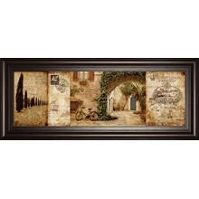 """Tuscan Courtyard"" By Keith Mallet Framed Print Wall Art"