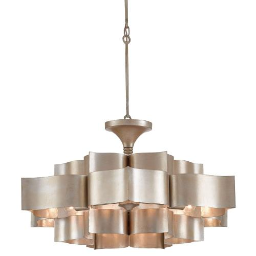 Grand Lotus Silver Large Chandelier