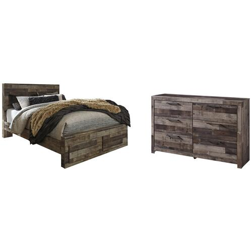 Ashley - Queen Panel Bed With 2 Storage Drawers With Dresser