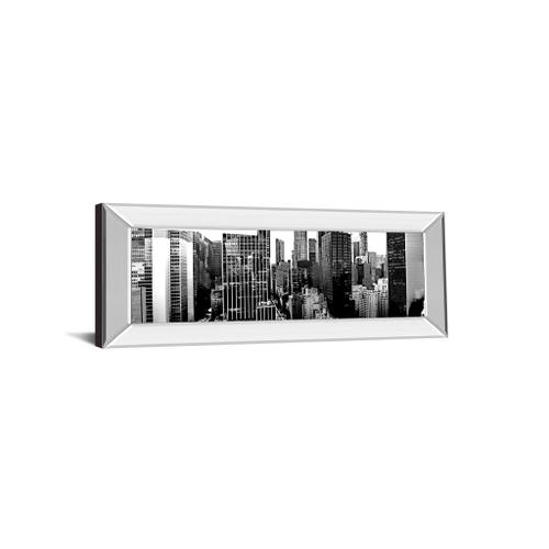 """""""Panorama Of NYC VIl"""" By Jeff Pica Mirror Framed Print Wall Art"""