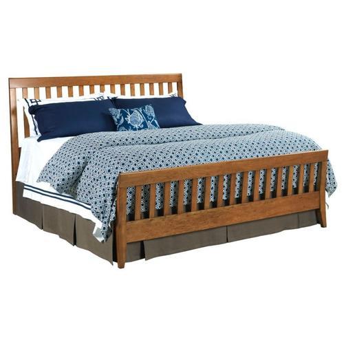 Slat Queen Bed Honey - Complete