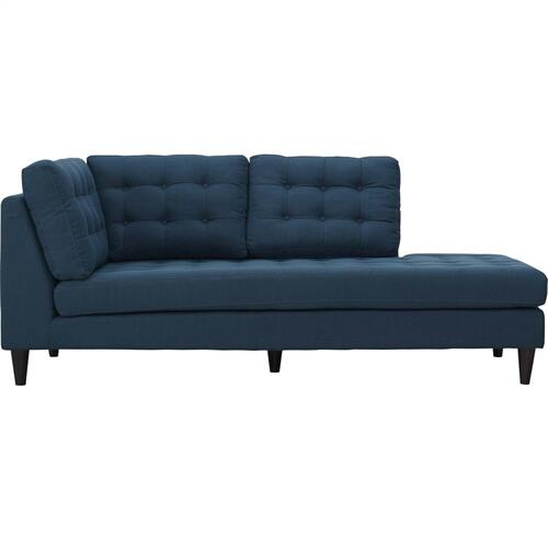 Modway - Empress Upholstered Fabric Right Facing Bumper in Azure