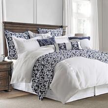 Kavali Navy U0026 White 4-pc Linen Comforter Set - King