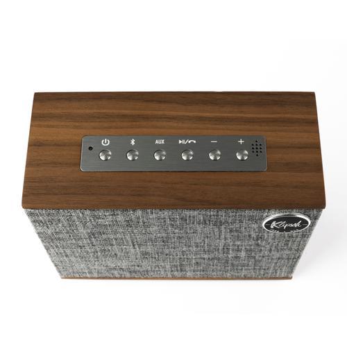 Klipsch - Heritage Groove - High-End Portable Bluetooth Speaker - Walnut
