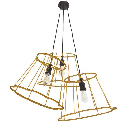 Product Image - 3lt Metal Gold Framed, Multi Pendant