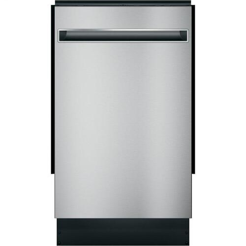"GE Profile™ 18"" ADA Compliant Stainless Steel Interior Dishwasher with Sanitize Cycle"