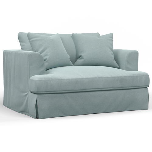 Newport Slipcovered Chair & 1/2