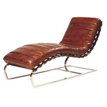 See Details - James Chaise Antique-brown