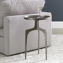 Kenna Accent Table, Nickel