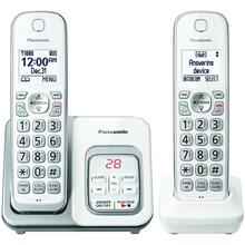 See Details - Expandable Cordless Phone with Call Block & Answering Machine (2 Handsets)