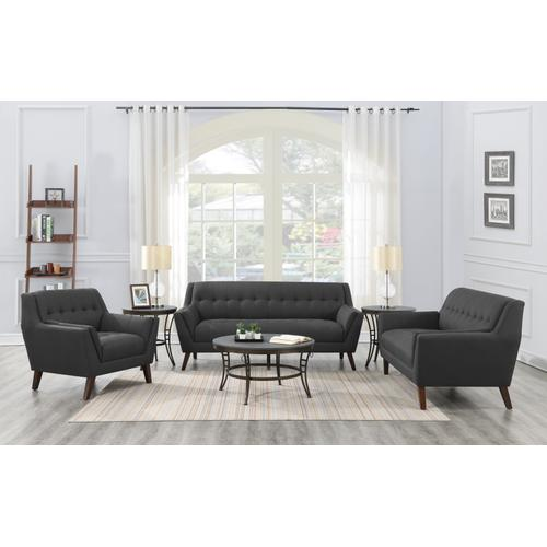 Binetti Sofa, Charcoal Pebble U3216-00-03