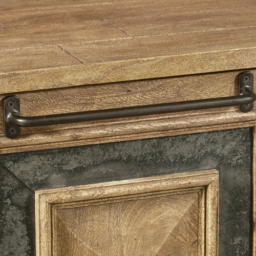 Rustic Stone Insert Two Door Chest