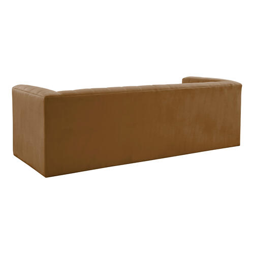 Tov Furniture - Norah Cognac Velvet Sofa