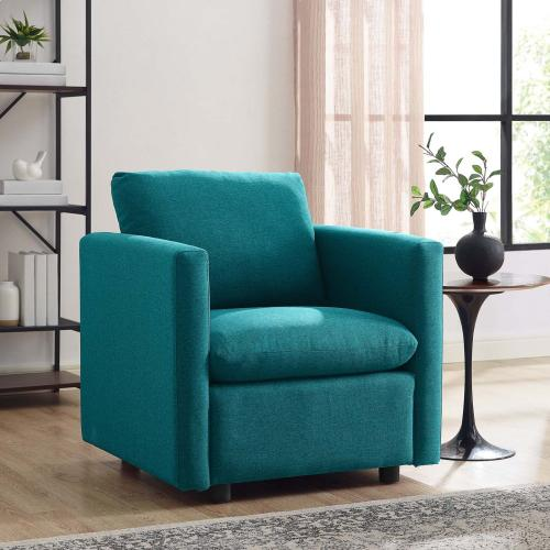 Activate Upholstered Fabric Armchair in Teal