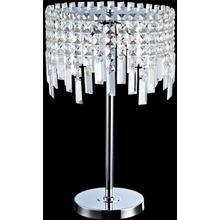 Table Lamp, Chrome/crystals, Type Jc/g4 20wx5