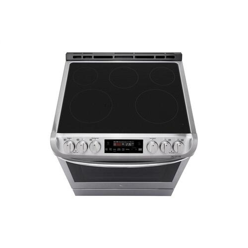 LG - 6.3 cu. ft. Electric Single Oven Slide-in Range with ProBake Convection® and EasyClean®