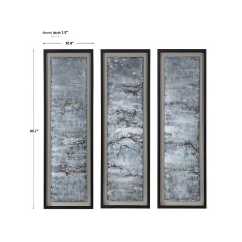 Ocean Swell Framed Prints, S/3, 3 Cartons