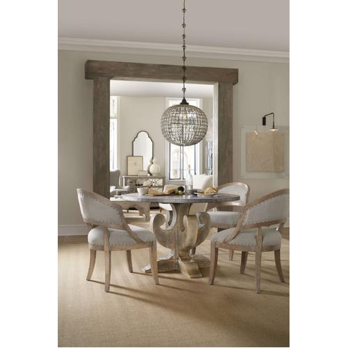 Boheme Ascension 48in Zinc Round Dining Table