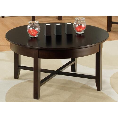 - Demilune Round Coffee Table