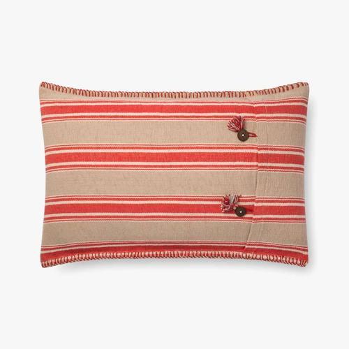 P0718 Red / Natural Pillow