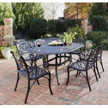 See Details - 6654-338 Sanibel Black 7 Piece Dining Set