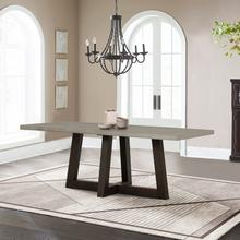 See Details - Elodie Grey Concrete and Dark Grey Oak Rectangle Dining Table