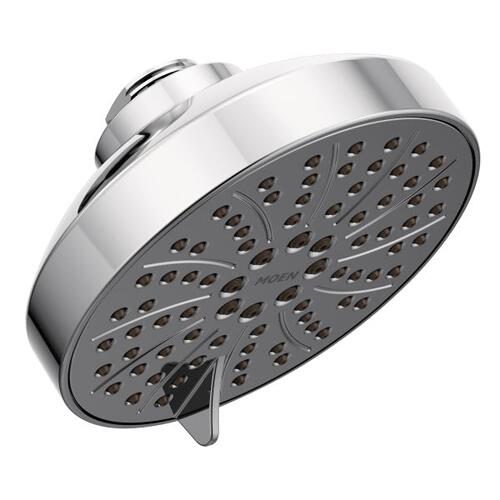 "chrome six-function 4.5"" diameter spray head eco-performance showerhead"