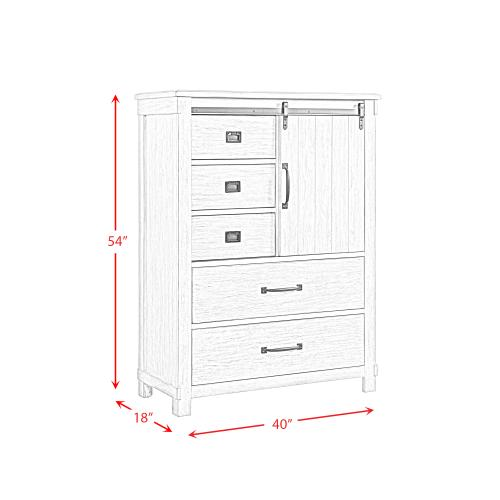 Scott 5-Drawer Gentlemens Chest
