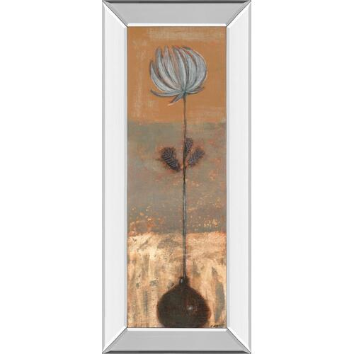 """Solitary Flower I"" By Norman Wyatt Mirror Framed Print Wall Art"