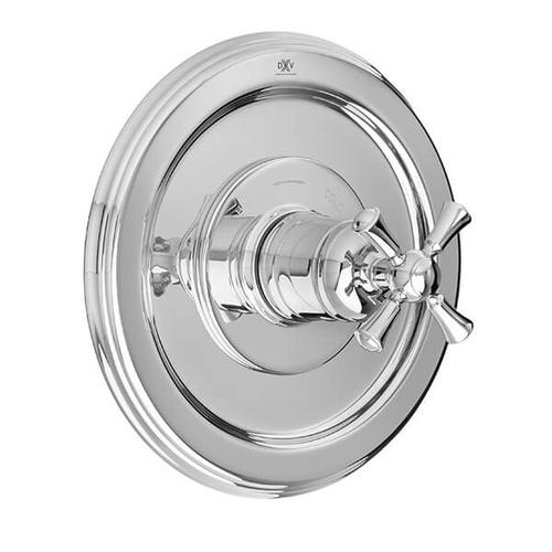 Dxv - Randall 1/2 Inch or 3/4 Inch Thermostatic Valve Trim with Cross Handle - Polished Chrome