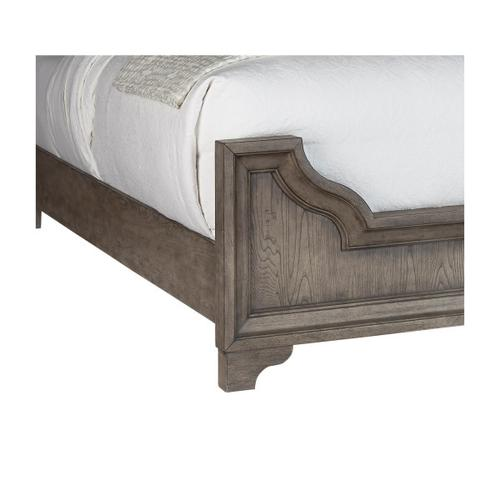 Bristol Queen / King Panel Bed Side Rails in Elm Brown