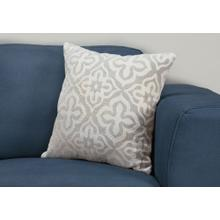 "PILLOW - 18""X 18"" / LIGHT GREY MOTIF DESIGN / 1PC"