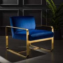 Astute Performance Velvet Armchair in Navy