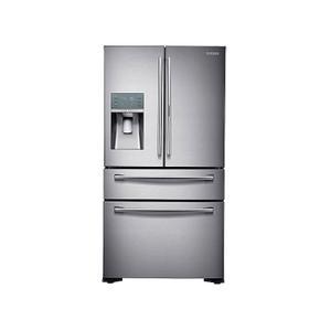 Samsung22 cu. ft. Food Showcase Counter Depth 4-Door French Door Refrigerator in Stainless Steel