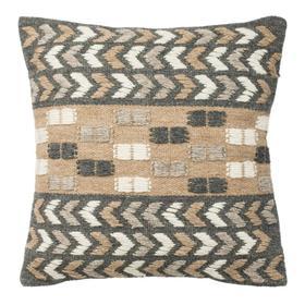 Carine Pillow - Charoal / Beige