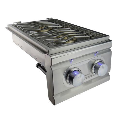 Cutlass Pro Double Side Burner - RDB1EL - Propane Gas