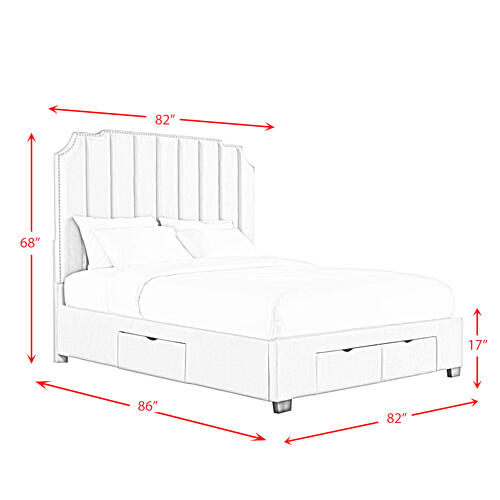 Harper King Upholstered Storage Bed