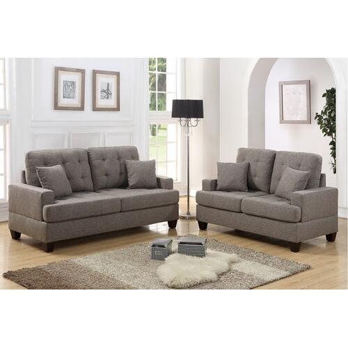 F6501 / Cat.19.p34- 2PCS SOFA SET COFFEE