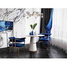 View Product - Astrid Navy Velvet Chair