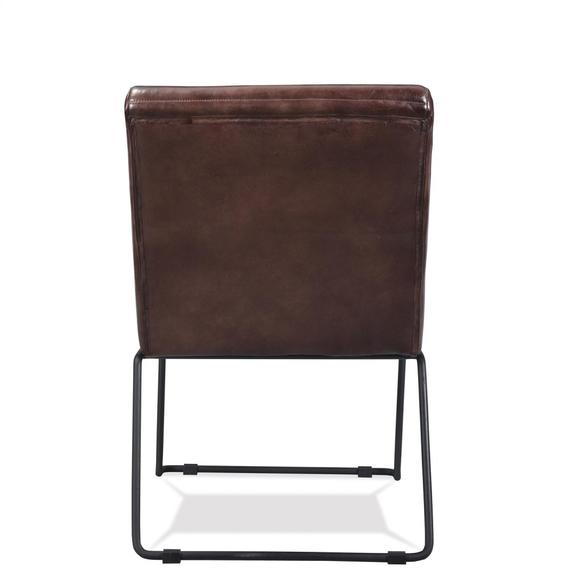 Riverside - Mix-n-match Chairs - Horizontal Tufted Leather Side Chair - Obsidian Finish