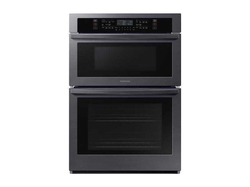 """Samsung30"""" Microwave Combination Wall Oven In Black Stainless Steel"""