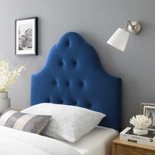 View Product - Sovereign Twin Diamond Tufted Performance Velvet Headboard in Navy