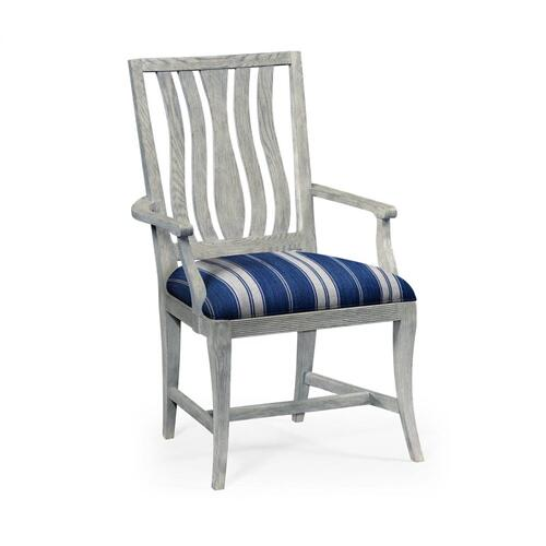 Eva Cloudy Oak Dining Arm Chair