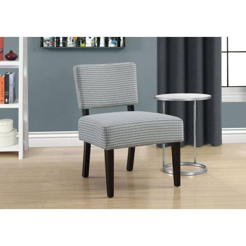 Gallery - ACCENT CHAIR - LIGHT BLUE / GREY ABSTRACT DOT FABRIC