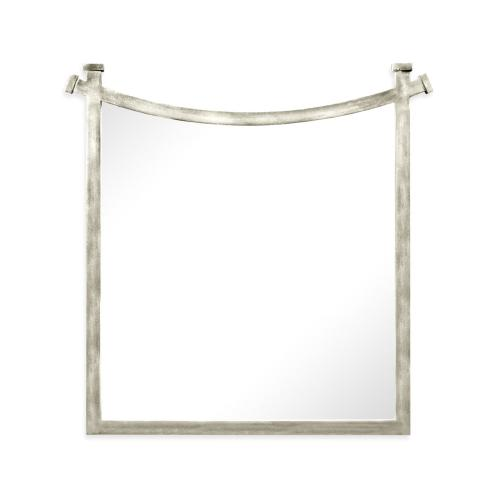 Silver iron mirror with curved top