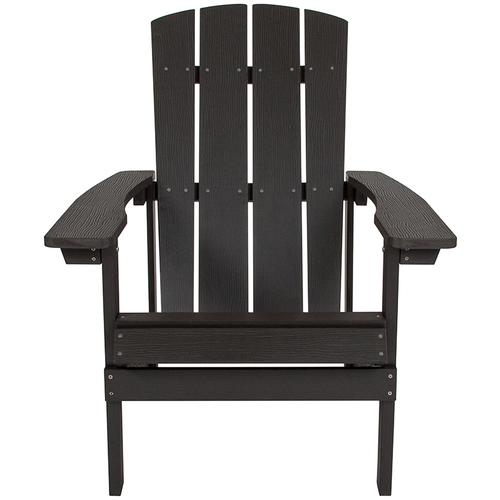 Flash Furniture - Charlestown All-Weather Poly Resin Wood Adirondack Chair in Slate Gray