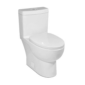 White MALIBU II Two-Piece Toilet, Dual-Flush Product Image