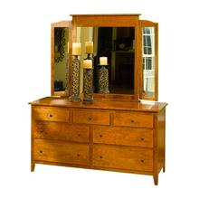 Jamestown Square Dresser & Beveled Tri-View Mirror