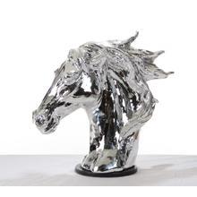 Modrest SZ0002 - Modern Silver Horse Head Sculpture